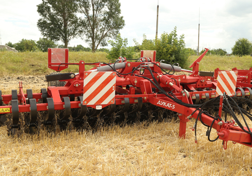 TEST:Flexible strut of disk harrows (harp)